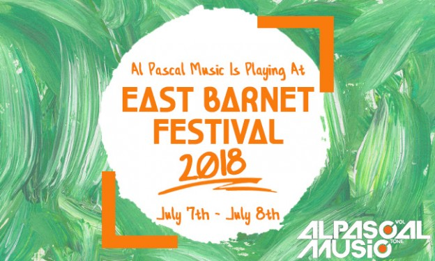 East Barnet Fest 2018 Orange Text